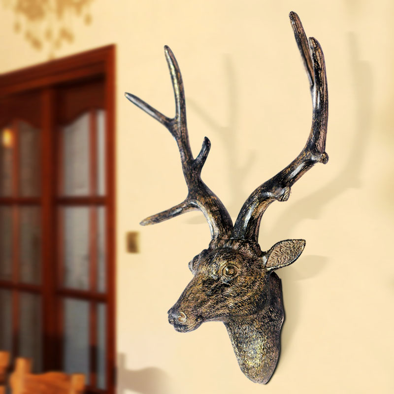 Bo lunka deer antlers wall murals european retro animal on the wall decorations hanging wall hangings wall hangings