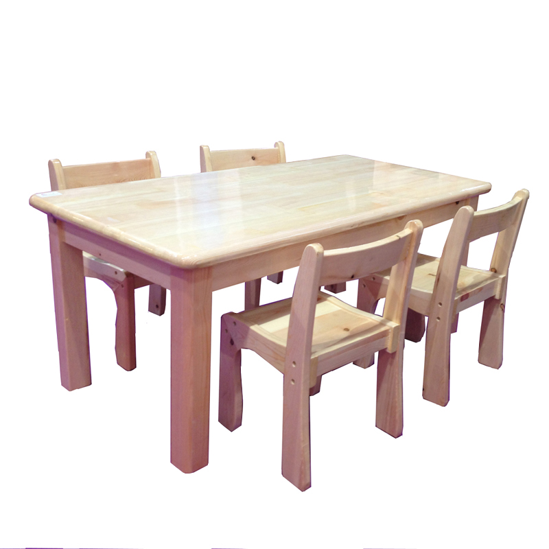 ... KIDS HUT · Bo Wo Pure Solid Wood Long Table And Chairs Kindergarten  Learning Pine Tables And Chairs For