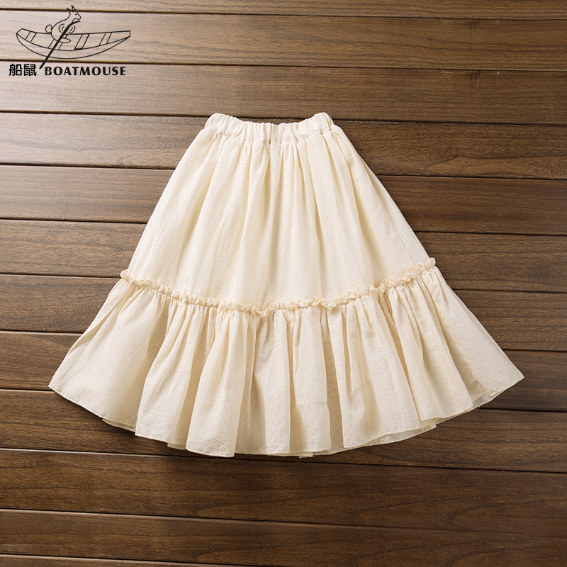 Boat rat girls skirts spring and autumn cotton dress girls dress pleated skirt 2016 new korean version of children's clothing children skirt