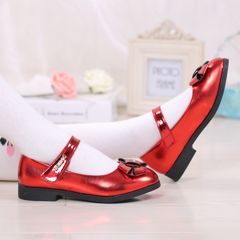 Bob dog shoes girls shoes single shoes 2016 new fall shoes student shoes black leather shoes bow princess shoes