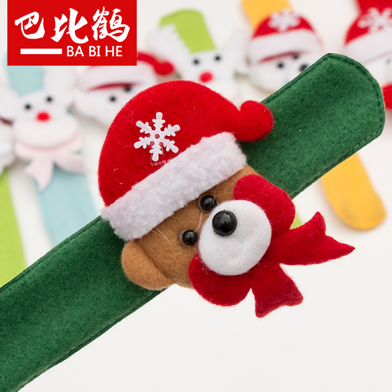 Bobby crane christmas pat circle bracelet hand ring pops christmas toys for children christmas party decorations