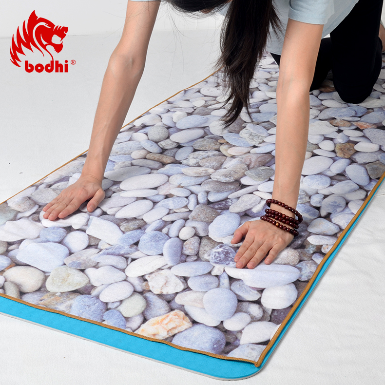 Bodhi large natural genuine microfiber slip silicone yoga shop towels yoga mat bucharest thick absorbent axenic