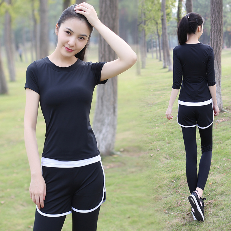 Bodhisattva ti yoga clothes yoga clothes suit female summer short sleeve wicking nylon pant sportswear gym yoga clothes 2016
