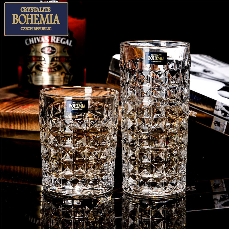 Bohemia czech imported crystal whiskey glass beer mug cups juice cup glass cup ocean