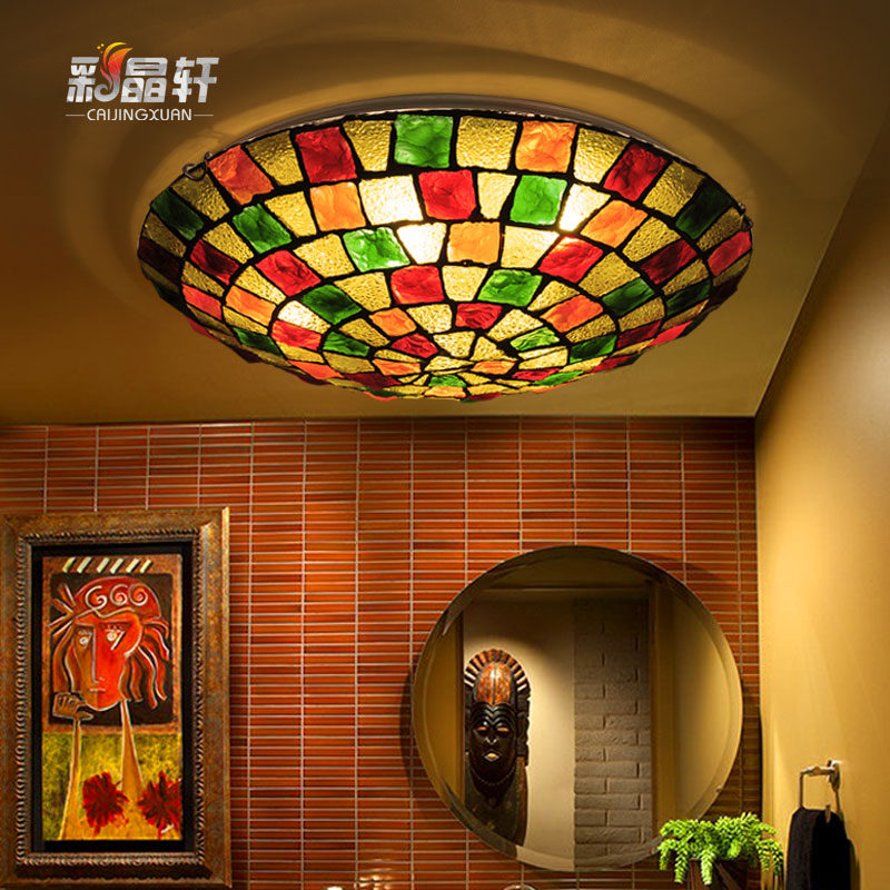 Bohemia mediterranean style round led ceiling lamp living room bedroom hallway positronic taiwan creative color lamps