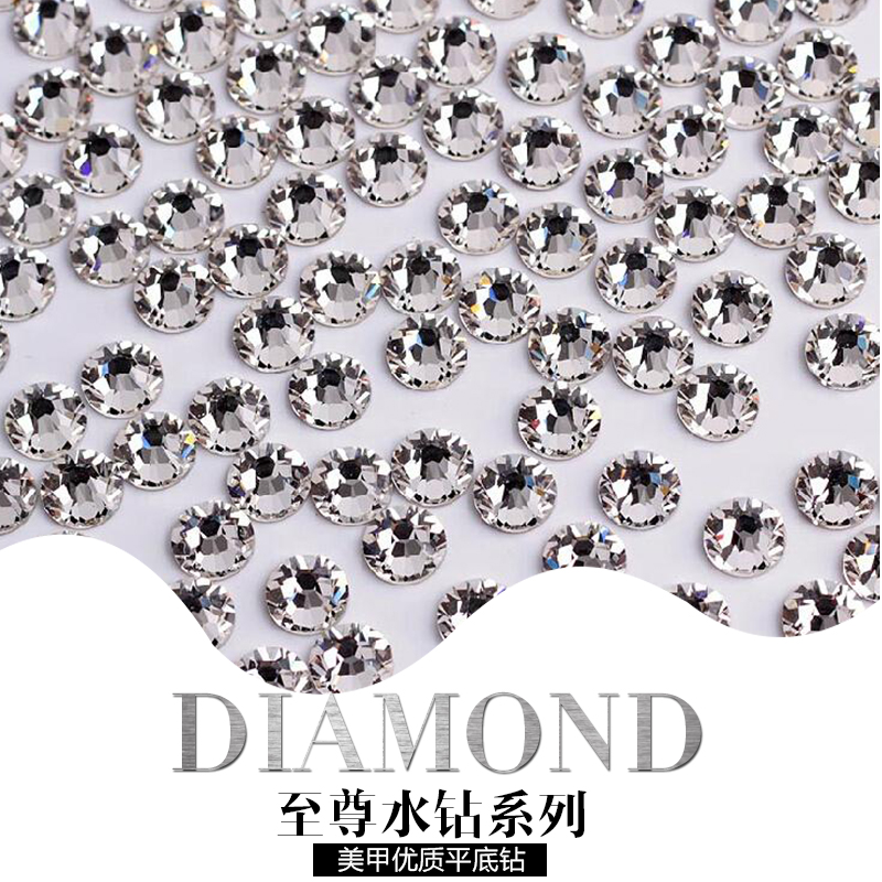 Bole fight lok diy silver rhinestone nail flat diamond drill eon a diamond drill nail polish diamond jewelry