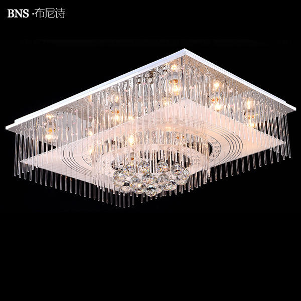 Boone poetry living room rectangular crystal lamp led ceiling lamp bedroom lamp room lights adorn the cozy modern lighting fixtures