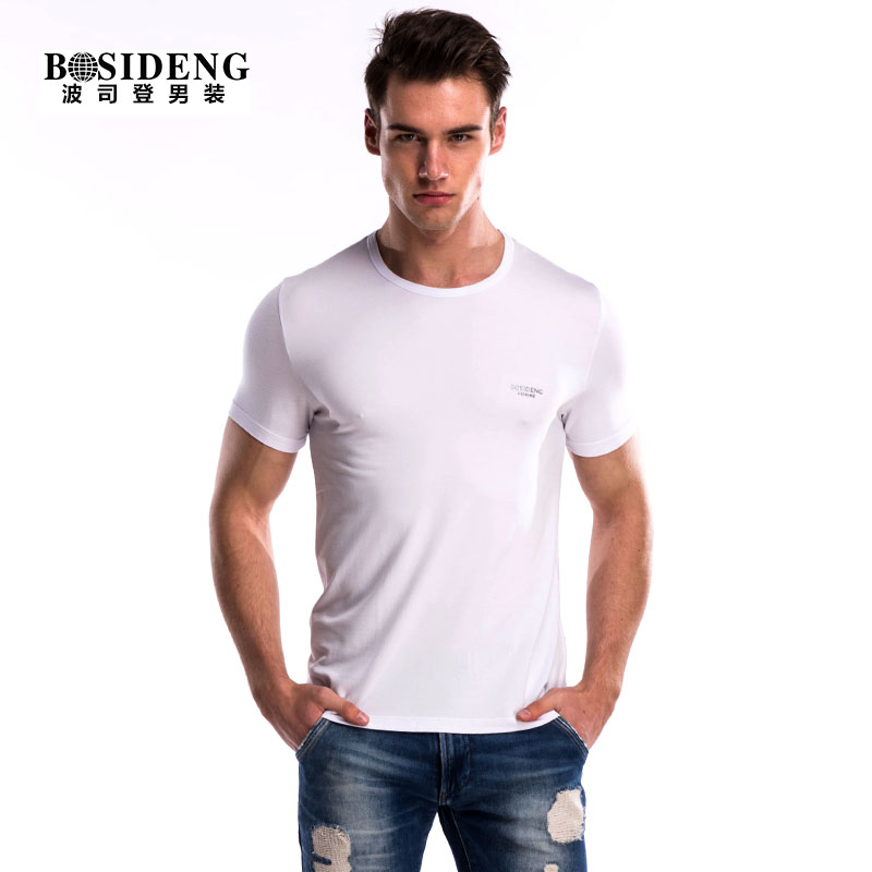 Bosideng/bosideng men's summer short sleeve t-shirt slim round neck t-shirt bottoming shirt compassionate male shimo generation er
