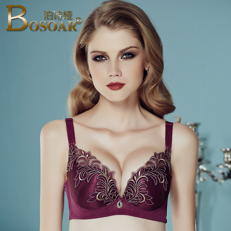 a271b113b2 Bosoar summer super sexy embroidery adjustable bra women gather thin  section breathable underwear bra on care