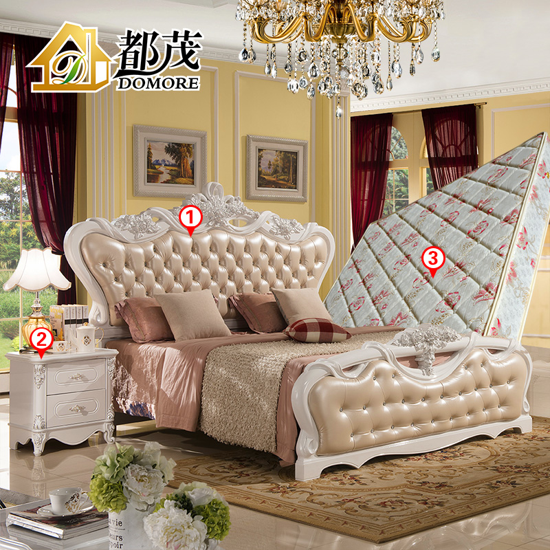 Both mao french garden furniture continental bed 1.8 m princess bed bedroom furniture wardrobe combination package three sets