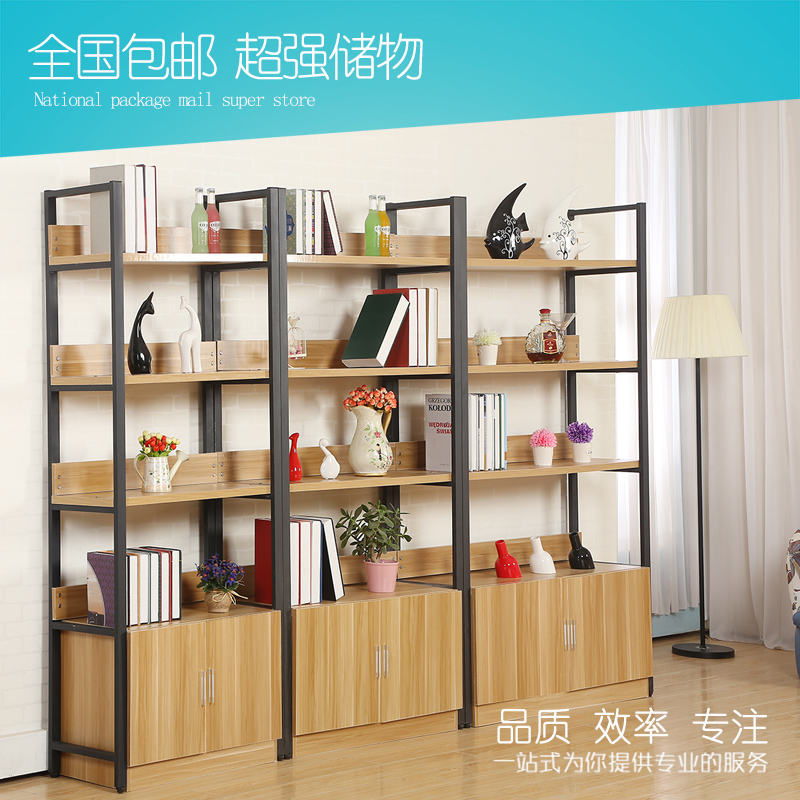 Boutique supermarket showcase container wall panels showcase cosmetic display rack storage shelves shelving simple