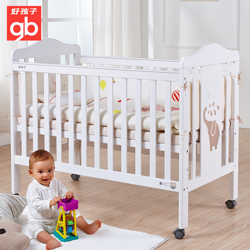 Boy crib MC308 white european environmental protection and water paint playpen baby bed wood bed children bed