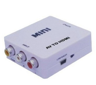 Branch only odd av cvbs composite audio and video to hdmi to hdmi converter with 1 m hdmi cable