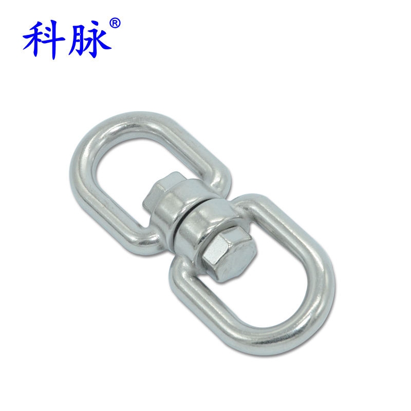 Branch vein 304 stainless steel rotating ring rotating ring 8 words ring gimbal ring buckle chain connecting ring rotating ring