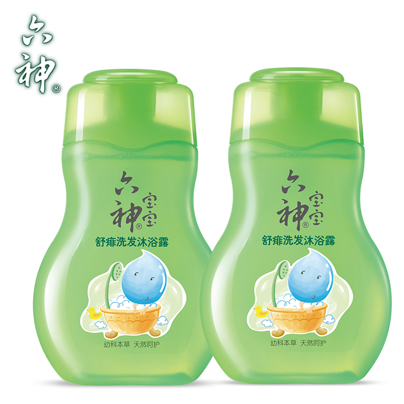 [Brand outlets] six god shu rush baby shampoo and shower gel 200 ml * 2 natural temperature and moisture