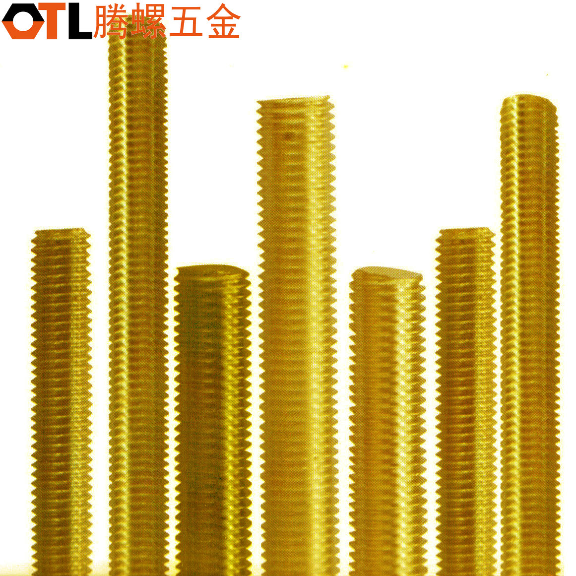 Brass screw stud 1 m long screw teeth rods h59 copper threaded rods complete specifications m6-m16