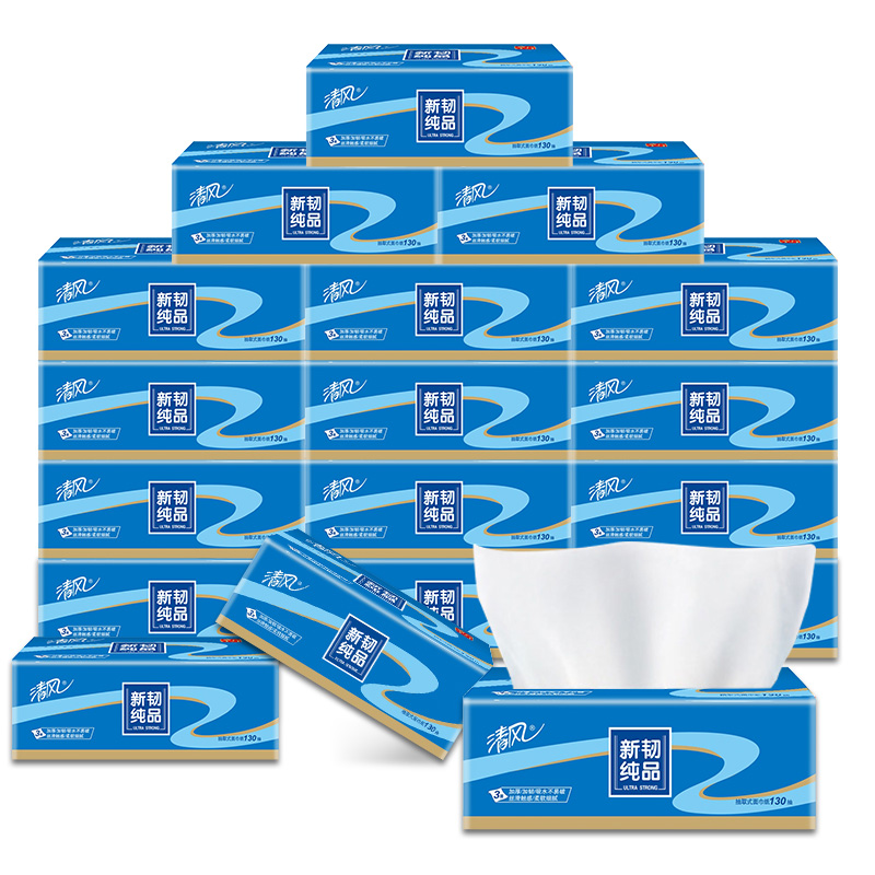 Breeze out of paper tough new layer 3 kleenex toilet tissue paper napkin s small size 130x3 mention pumping x6 package (Blue
