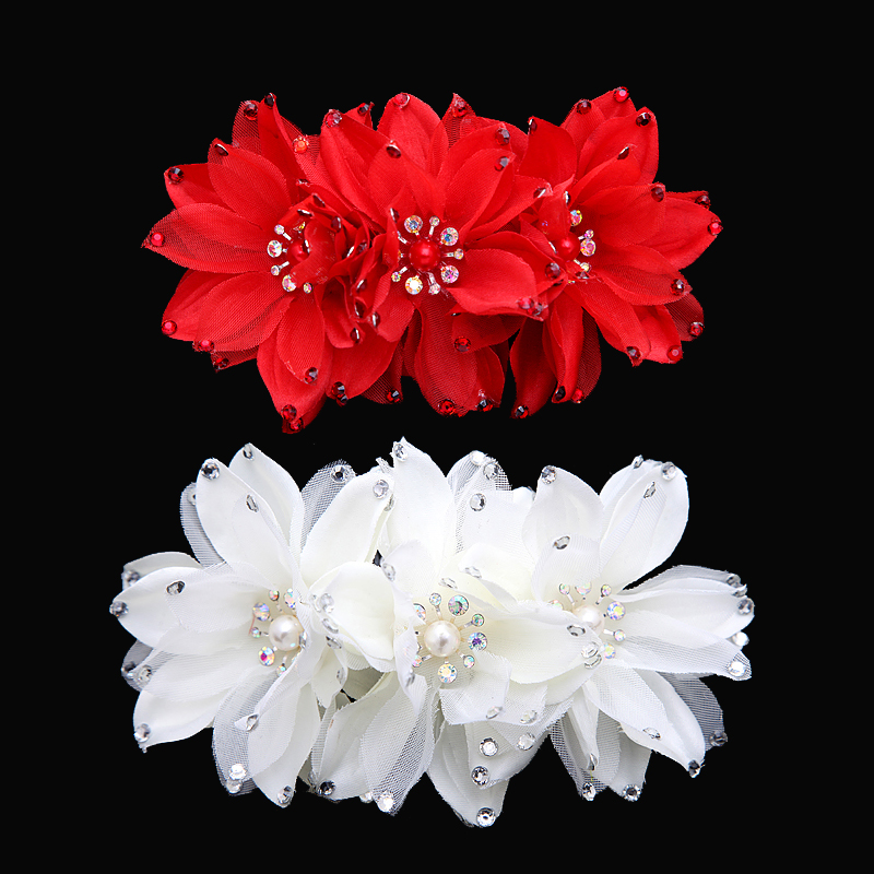 Bridal jewelry with handmade lace pearl korean wedding headdress flower head flower bridal headdress hair accessories