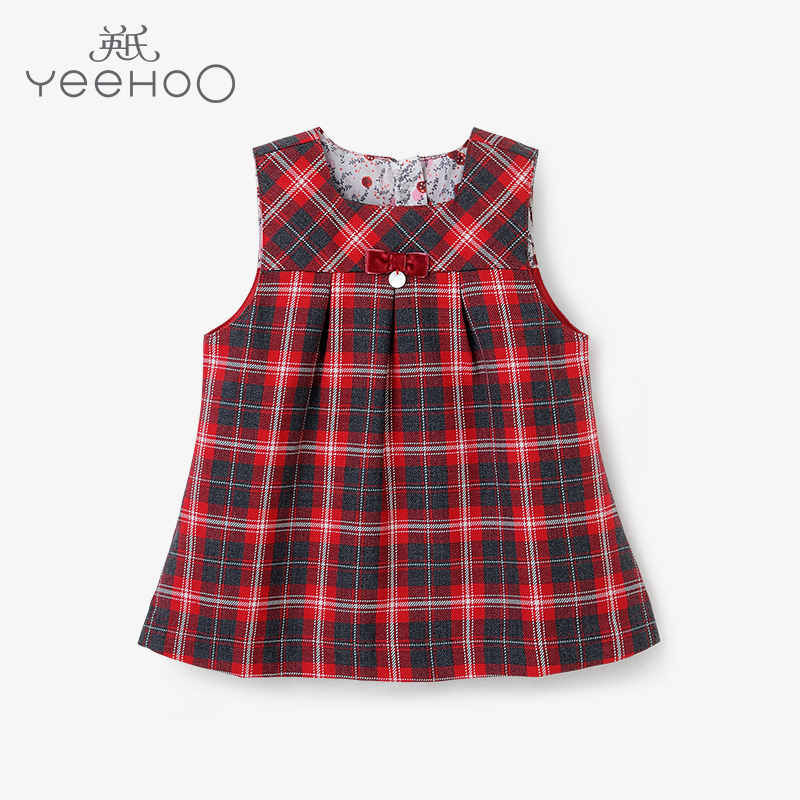 cd017dd15a467 Get Quotations · Britain's spring and autumn baby vest dress skirt girls  dress baby girl plaid skirt 153292 promotion