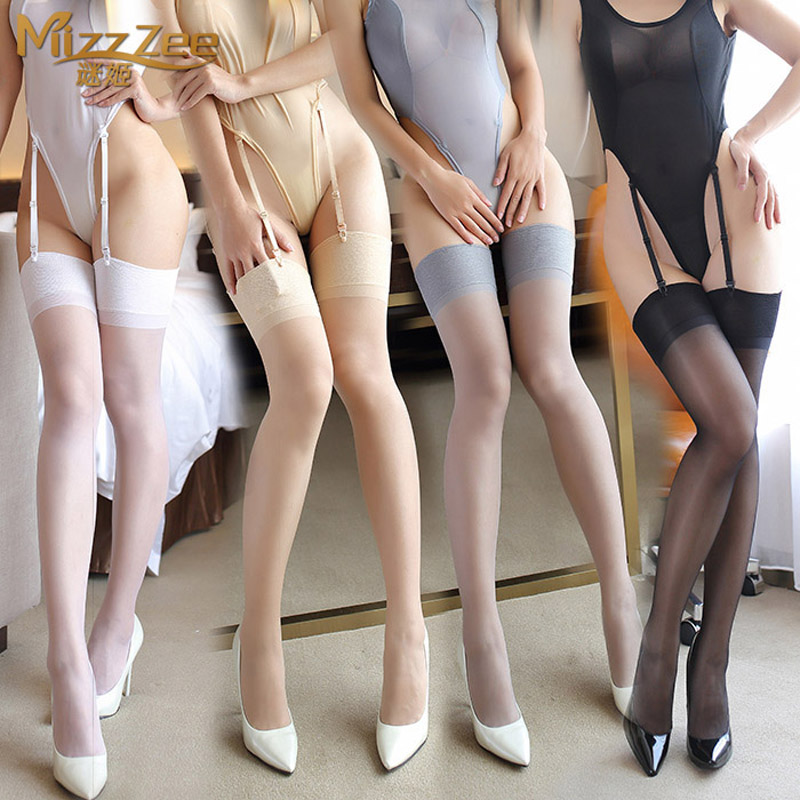 Broadside skid silky thin stockings sexy women sexy lingerie transparent sexy thigh high socks stockings