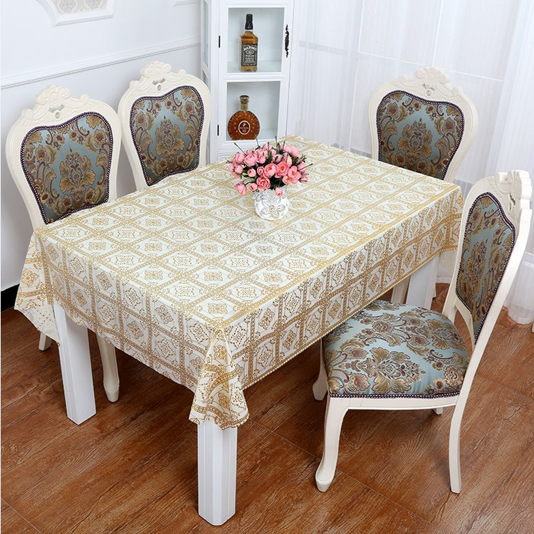 Bronzing pvc tablecloth waterproof disposable hot oil mat coffee table tv cabinet table cloth table cloth rectangle