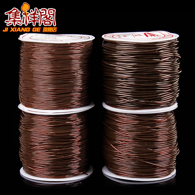 Brown brown circular transparent crystal elastic line beaded wire line elastic cord bracelet beads wire line fishing line