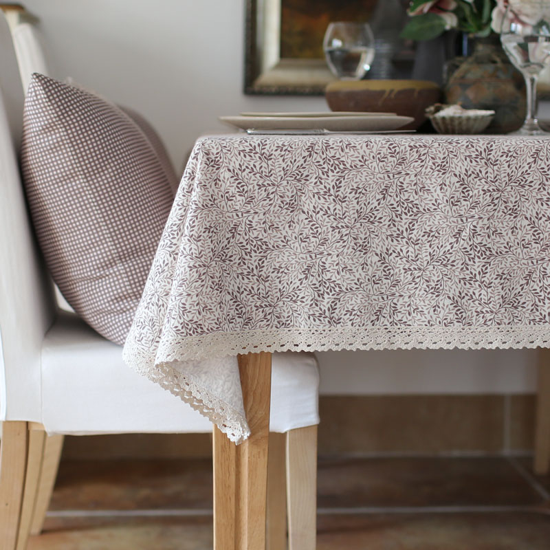 Brown floral small book leaves openwork fabric tablecloth dining bugaboo coffee table cloth dust can be customized