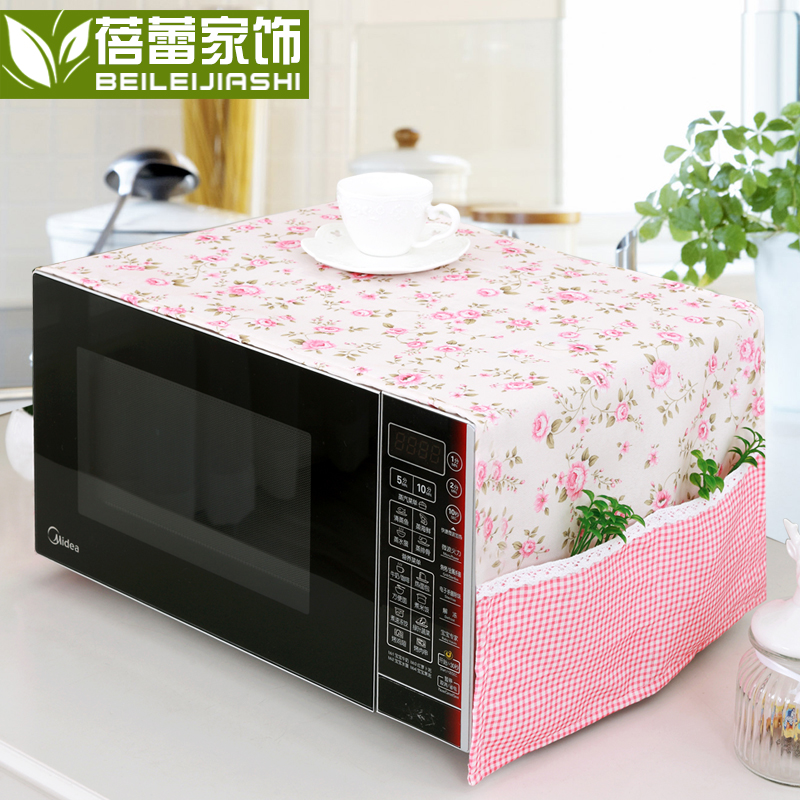 Bud furniture garden fabric cover microwave cover towel set oven oilproof microwave microwave dust cover korean