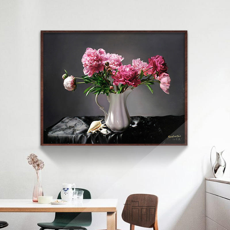 Bulgari flower painting framed painting of modern decorative painting murals restaurant entrance hallway meter box shelter paintings