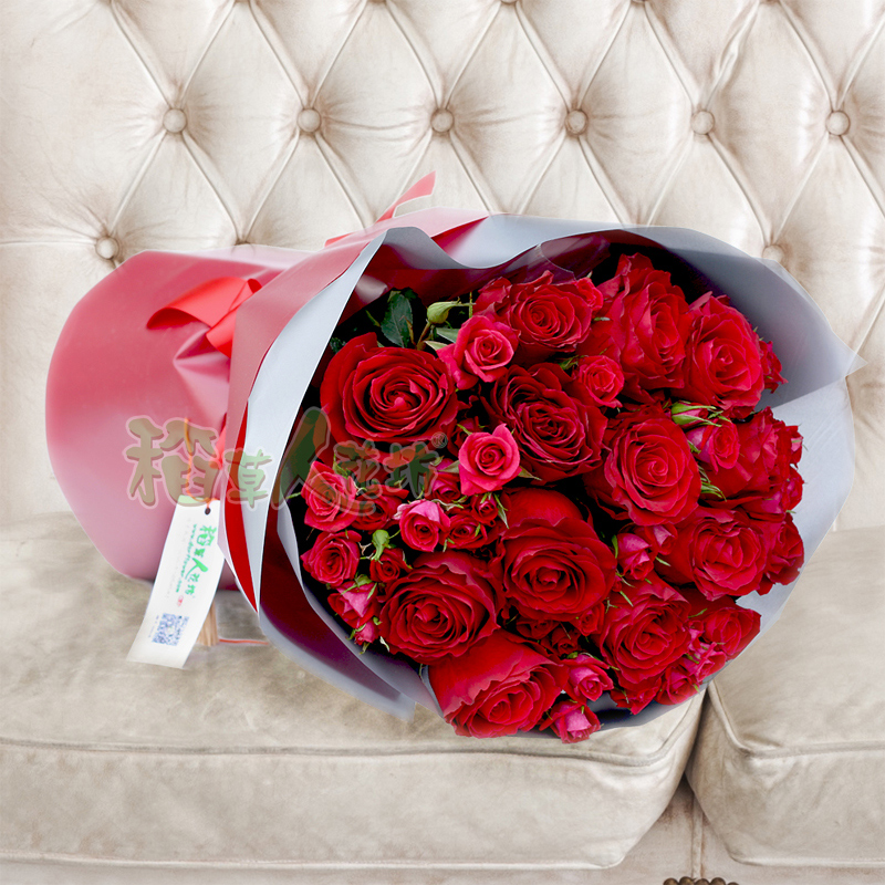 get quotations bulls rose rose rose bouquet of red roses romantic valentines day birthday bouquet of flowers beijing - Happy Valentine Glass Rose Pipe