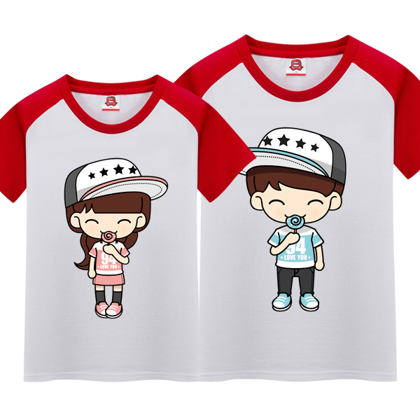 Bus dream summer new wedding dblove baseball shirt lovers men and women short sleeve t-shirt 014