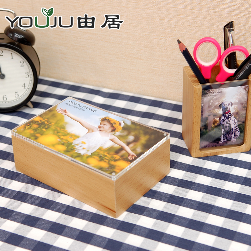 By the habitat quality solid wood desktop storage box cute creative diy photo frame swing sets wood frame small frame holder