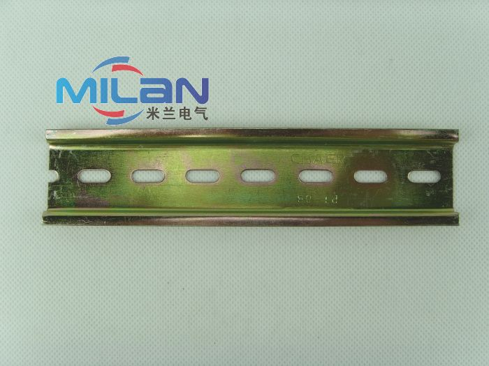 C45u type iron rail electrical installation guide rail dz47 din rail 8mm thick 7.5 high 15cm long