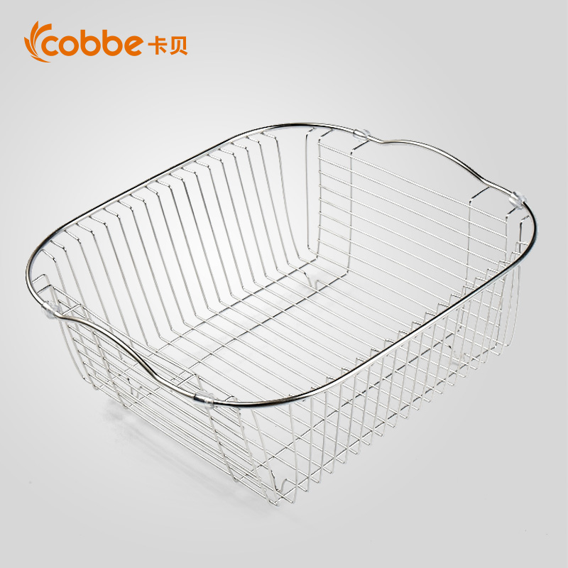 Cabernet 304 stainless steel drain basket vegetables basin kitchen sink accessories sink drain rack shelf vegetables Basket