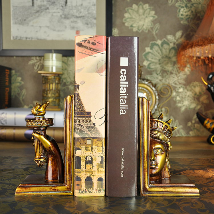 Cadani euclidian statue of liberty torch den home decorations ornaments resin crafts book by an author