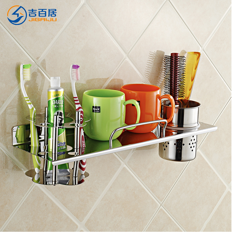 Cadbury ranks bathroom toilet bathroom toilet shelving wall 304 stainless steel toothbrush holder shelf