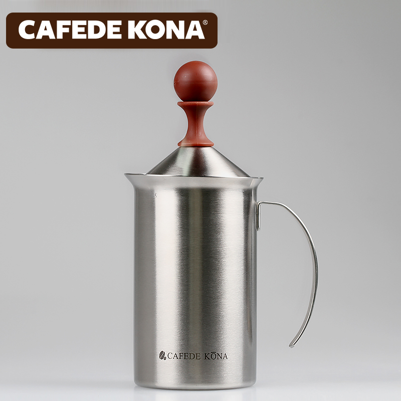 Cafede kona foamer manually stainless steel double play foam cup milk foam whipped foam cup