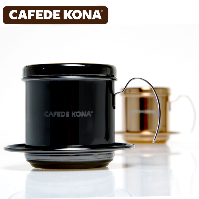 Cafede kona gold-plated viet nam household coffee pot stainless steel coffee maker to brew pot drip pot