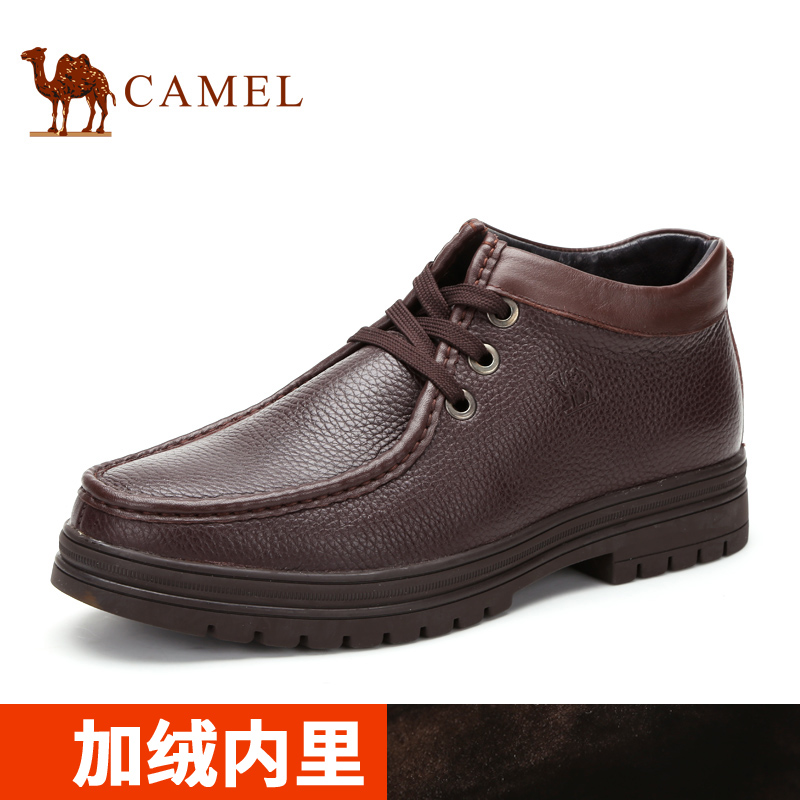 Camel camel boots 2015 winter casual men's high to help men's short tube male boots boots leather boots
