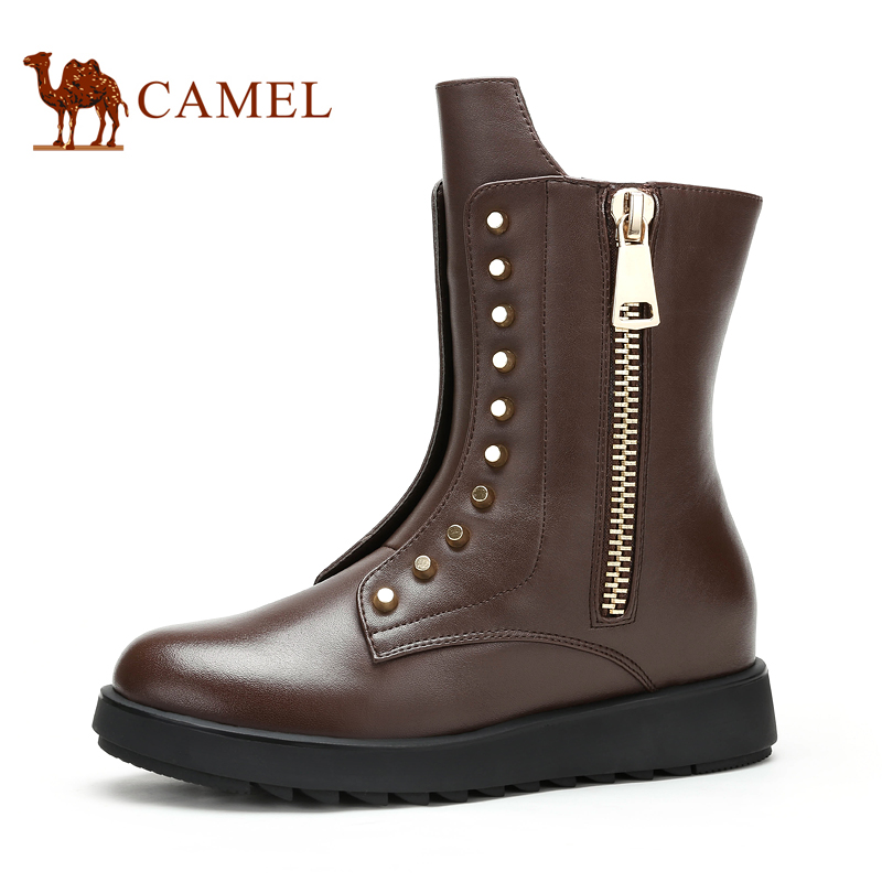 Camel camel boots fashion casual handsome neutral wind ladies casual women's boots new women's boots