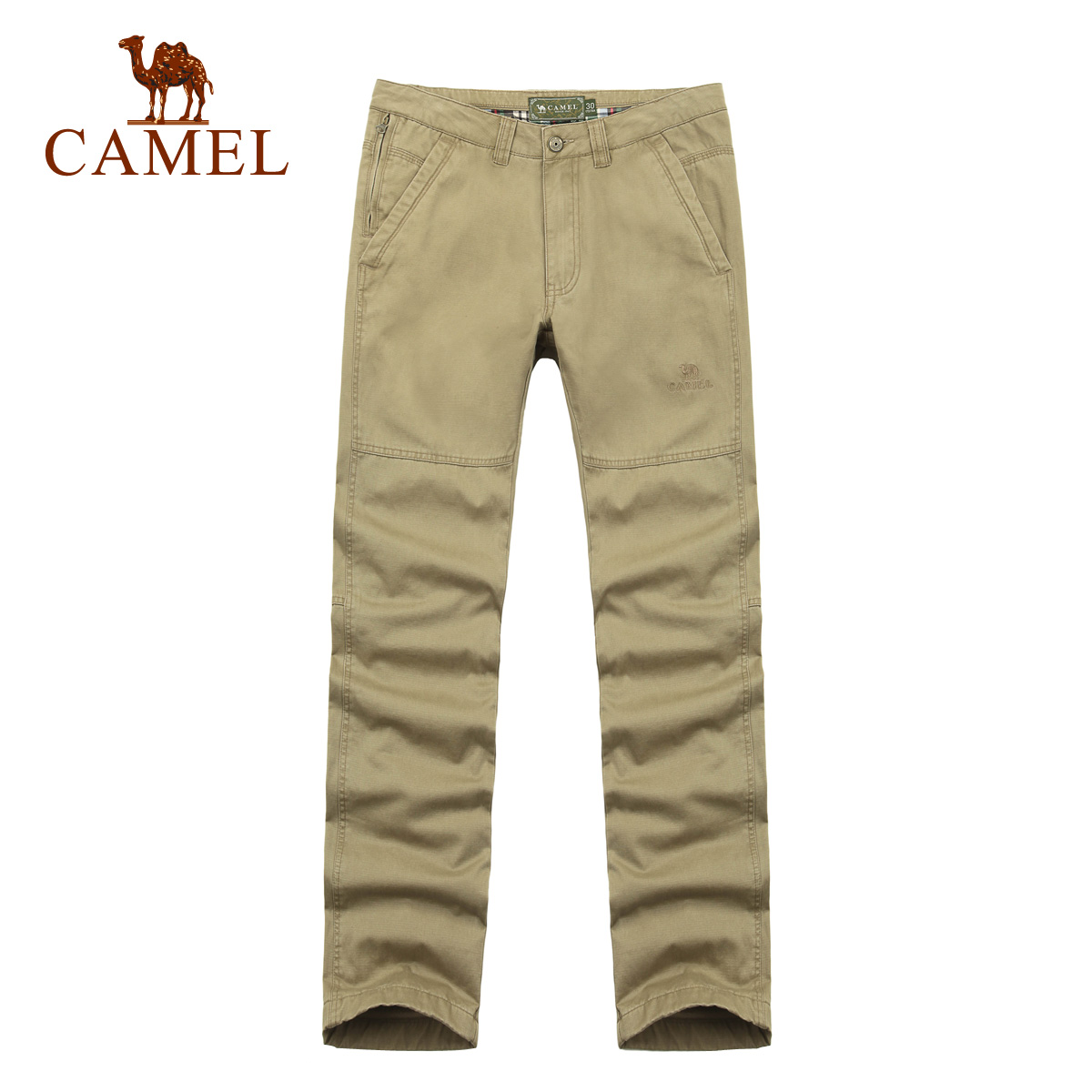 Camel camel outdoor men's casual men's cotton trousers outdoor travel and leisure straight jeans child