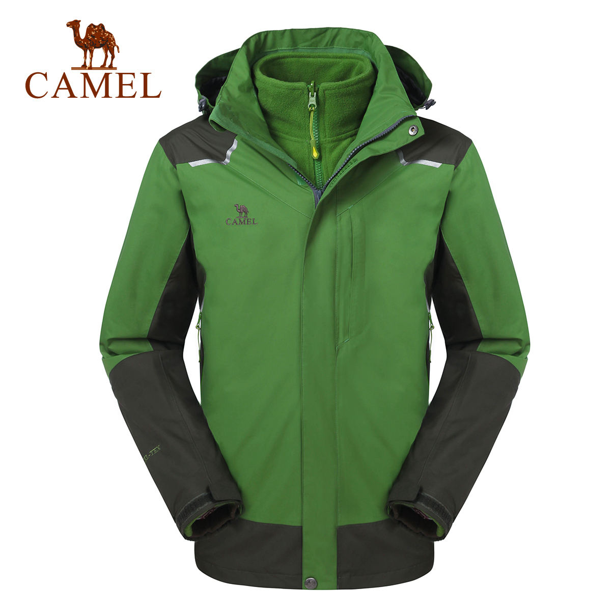 Camel outdoor jackets mens waterproof and breathable piece jackets new autumn and winter A4W216001
