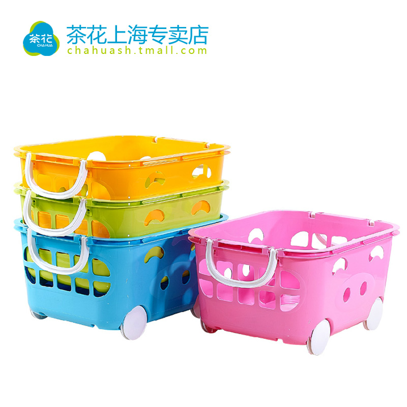 Camellia storage box of children's toys plastic storage baskets baby toy storage box sorting boxes of clothing storage basket cartoon