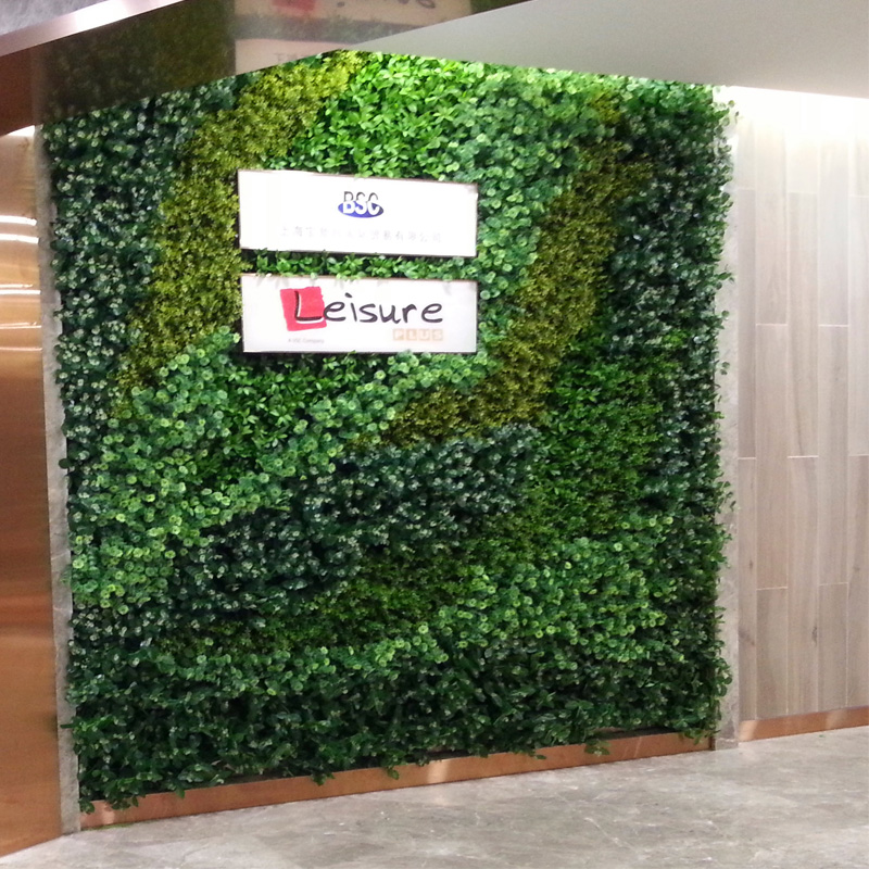 Can be customized vertical green wall indoor simulation grass artificial plants wall wall green wall design and production of shanghai