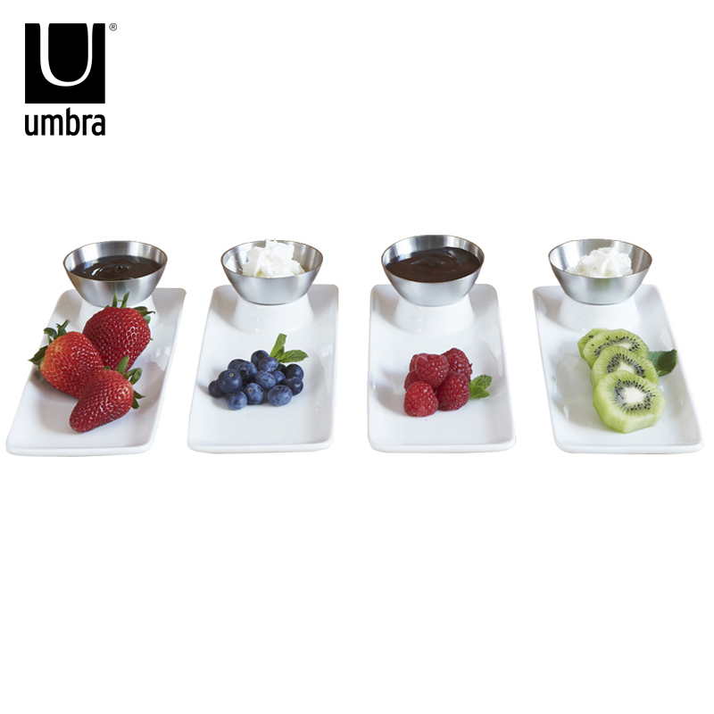 Canada umbra european pastoral ceramic stainless steel snack dish fford combination of export quality genuine security