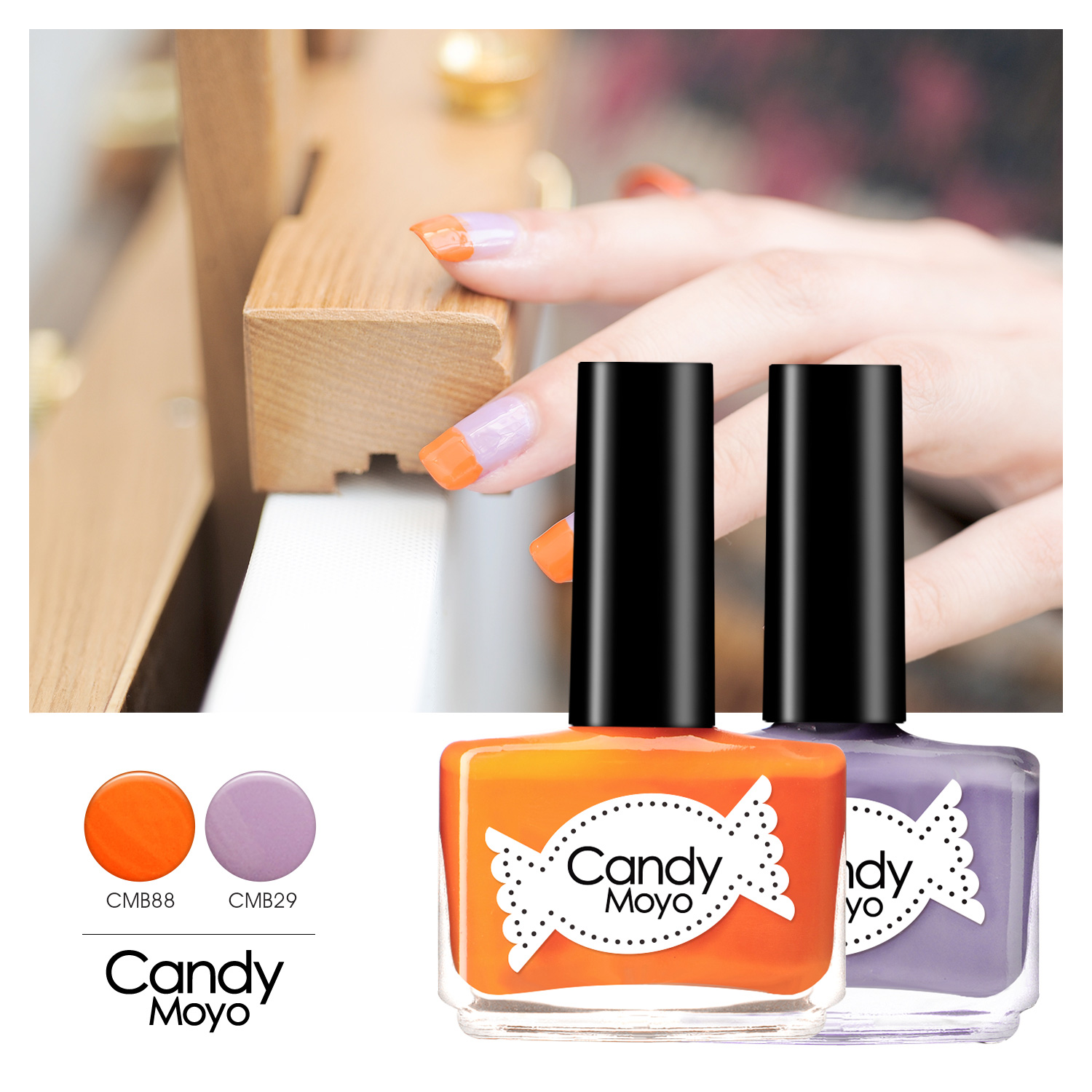 Candy moyo film jade nail polish kit nude color candy color purple taro lavender health beauty armor sets group