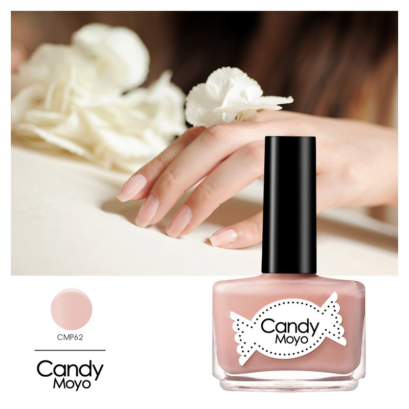 Candy moyo film jade natural nude pale pink nail polish candy colored jelly color nude color green nail