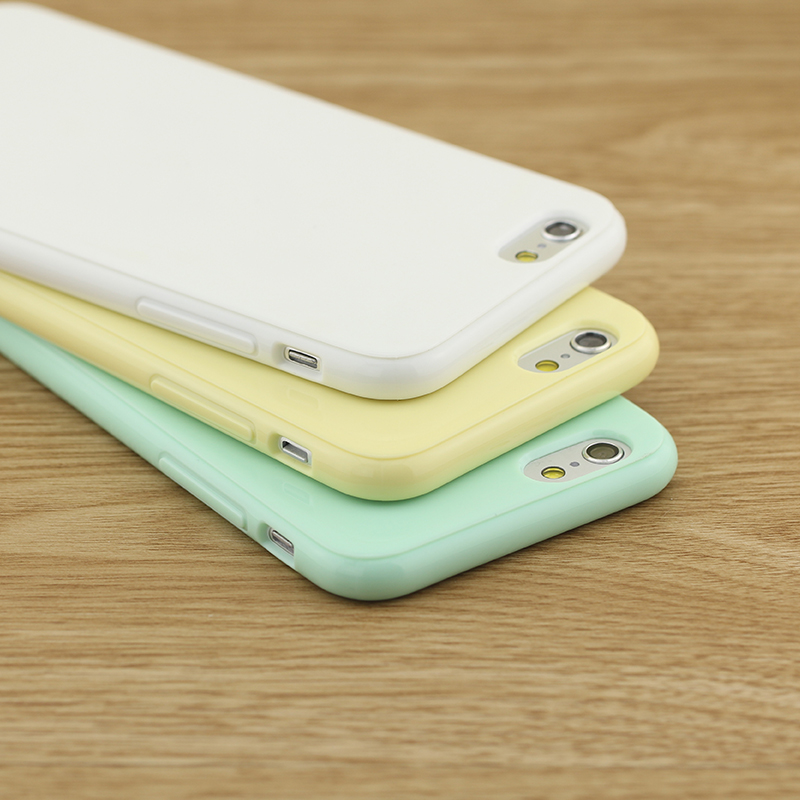 Candy soft shell iphone6s phone shell apple 6 scratch protection cover 4.7 pure color slim silicone case soft shell tide