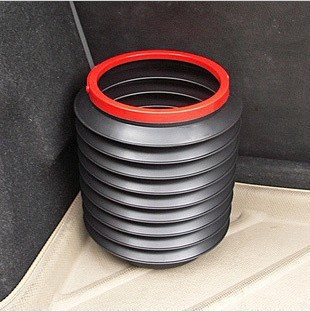 Car glove magic bucket car trash barrel retractable 4l folding bucket car trash barrel storage box