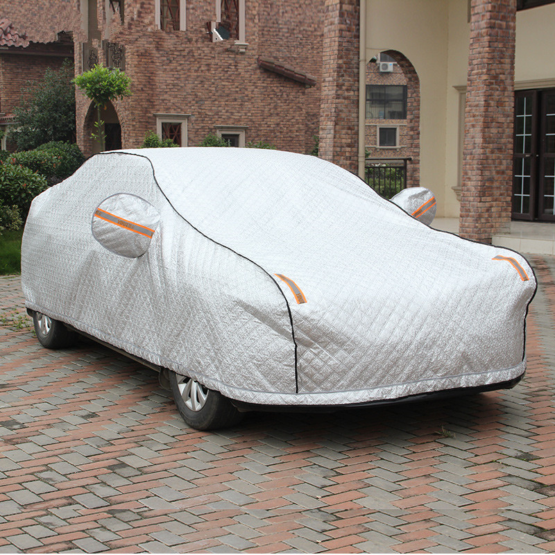Car half cover half sewing car hood summer sun shade umbrella rain and sun heat half car cover volkswagen wall